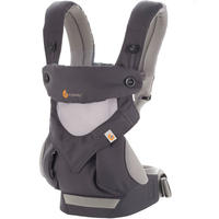 ERGObaby - Four Position 360 Cool Air Mesh Baby Carrier, Carbon Grey