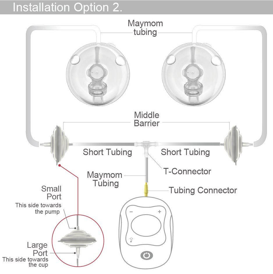 Maymom Tubing Kit for Freemie Cups to Connect to Medela Freestyle Pump