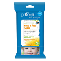 Dr. Brown's - Nose & Face Wipes, 30 Wipes (HG002)