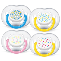 Philips Avent - Soother Fashion Freeflow BPA-Free Twin Pack, 6-18M (2 Colours)