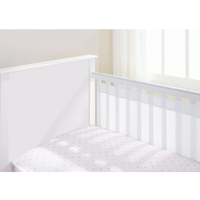 BreathableBaby - 2 Sided Mesh Cot Liner, White (18311)