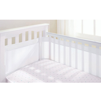 BreathableBaby - Airflow Cot Liner 35cm, White (28511)