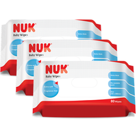 NUK - Baby Wipes 80pcs, 3 Packs (NU40272602)