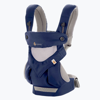 ERGObaby - Four Position 360 Cool Air Mesh Baby Carrier, French Blue