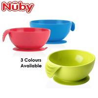 Nuby Sure Grip Silicone Suction Bowl, 6m+ (3 Colours)