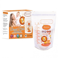 Autumnz - Double ZipLock Breastmilk Storage Bag, 28 bags *10oz* (LION)