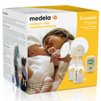 Medela - Freestyle Mobile Breast Pump With Tote Bag - FREE Hands-Free Kit ($15 off for bank transfer, use code BT15)(Newest packaging)