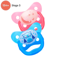 Dr Brown's - Prevent Glow In The Dark Butterfly Shield Pacifier, Stage 3/12M+ (2 Colours)