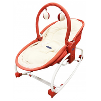 Lucky Baby - Rocky Snoozy 3in1, Rocker/Rleeper/ Chair (500149) Red