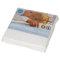 Hippychick - Fitted Bed Protector, 70x140cm Cot Bed (White)