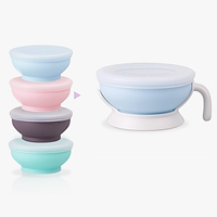 Monee - Silicone Baby Bowl With Handle 150ml, 4m+ (4 Colours)