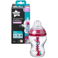 Tommee Tippee - Advanced Anti-Colic Bottle With Slow Flow Teat 260ml/9oz, Girl (1 Count)