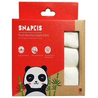 Snapkis - Plush Bamboo Washcloths, 3 Count (SKS11027)