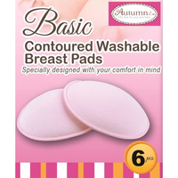 Autumnz - Basic Washable Breastpads, 6 pcs (3 Colours)