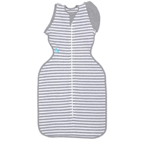 Love To Dream - Swaddle Up 50/50, Grey Stripe (3 Sizes)