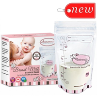 Autumnz - Double ZipLock Breastmilk Storage Bag (25 bags) *12oz*