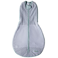 Woombie - Grow With Me AIR, The 5 Stage swaddle & Wearable Blanket (Polka Party)