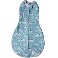 Woombie - Grow With Me, The 5 Stage swaddle & Wearable Blanket (Buzzy Cars)