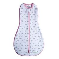 Woombie - Grow With Me, The 5 Stage swaddle & Wearable Blanket (Magic Hearts/My Love)