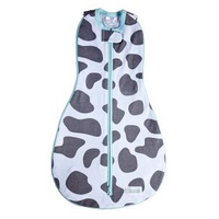 Woombie - Grow With Me, The 5 Stage swaddle & Wearable Blanket (Moo Gray)