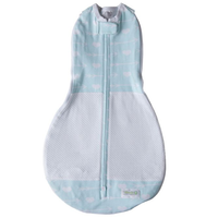 Woombie - Grow With Me AIR, The 5 Stage swaddle & Wearable Blanket (Mint Arrow)