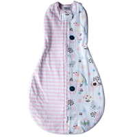 Woombie - Grow With Me, The 5 Stage swaddle & Wearable Blanket (Birds and Stripes)