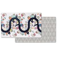 Skip Hop - Doubleplay Reversible Playmat, Vibrant Village (218cm/L x 132cm/W)