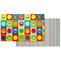 Skip Hop - Doubleplay Reversible Playmat, Zoo (218cm/L x 132cm/W)