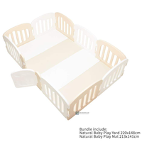 IFAM - Natural Baby Play Mat + Play Yard Bundle, White+Baige (10% OFF + FREE Delivery