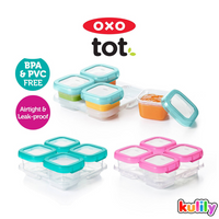 OXO Tot Baby Blocks Freezer Storage Container, 4oz (4 Colours)