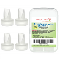 Maymom - Breastpump Valve (Duckbill) For Ameda Purely Yours, 4 Count (Semi Transparent)