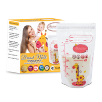 Autumnz - Double ZipLock Breastmilk Storage Bag, 28 bags *7oz* (GIRAFFE)