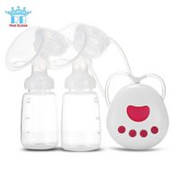 Real Bubee Intelligent Microcomputer Rechargeable Double Electric Breast Pump, Double Rhythm Sucking Mode  (RBX-8025-2)