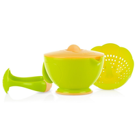 Nuby Garden Fresh - Steam n' Mash Baby Food Bowl With Lid And Food Masher,  5449 (2 Colours)