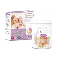 Autumnz - Double ZipLock Breastmilk Storage Bag, 28 bags *5oz* (FLOWER & BIRD)