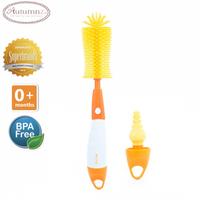 Autumnz - Deluxe 2-in-1 Soft Silicone Bottle Brush (Orange)