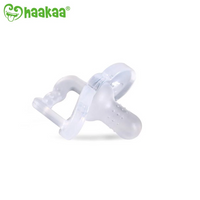 Haakaa - Newborn Silicone Dummy, Clear (Pacifier)