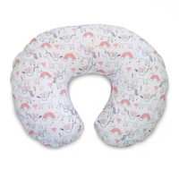 Boppy - Original Nursing Pillow SLIPCOVER, Cotton Blend Fabric (Pink Unicorns)