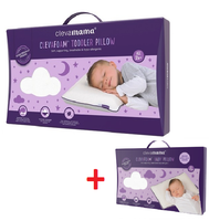 Clevamama ClevaFoam Toddler Pillow(3103) +  Baby Pillow(3102) Bundle