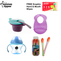 Tommee Tippee Explora Feeding Set Kit (FREE Snapkis Hand and Mouth Wipes 20's)