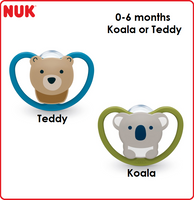 NUK Soother Silicone Space, 1pc/box (4 Designs & 3 Sizes Available)