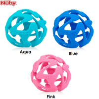 Nuby Tuggy Teething Ball, 3m+ (3 Colours)