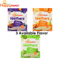 Happy Baby Organic Teethers, 12 packs (3 Available Flavor)