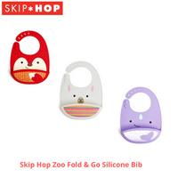 Skip Hop Zoo Fold & Go Silicone Bib