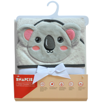(Buy 1 Get 1 Free)Snapkis 2-in-1 Hooded Towel - Koala