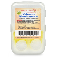 Maymom - Valves (2) & Membranes (4) Replacement for Medela and Spectra pumps