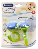 Lucky Baby - Loopy Swivel Stroller Hook, 2 Count (4 Colours)