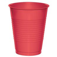 RUBY RED 25 X 270ml (9oz) PLASTIC CUPS
