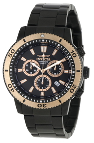 Invicta Men's 1206 Specialty Quartz Chronograph Black Dial Watch