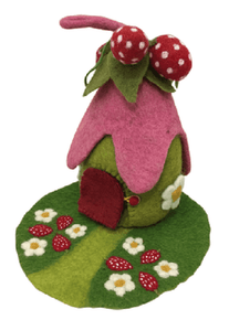 Papoose Strawberry Fairy House and Mat